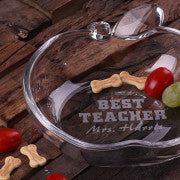 Apple-shaped Glass Dish