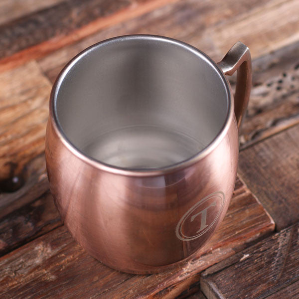 Moscow Mule Mug with Uniquely Shaped Handle