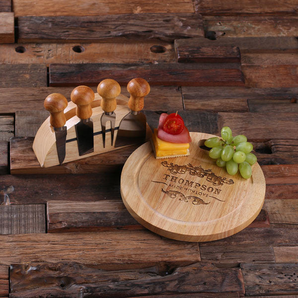 Cheese Tray w/Tools & Stand