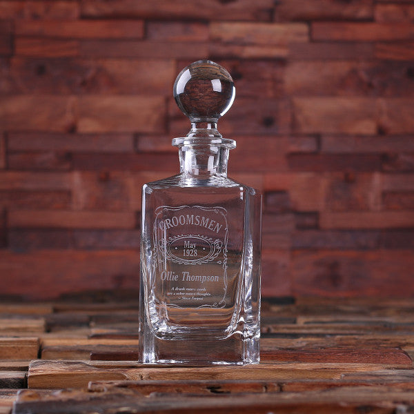 Whiskey Decanter with Round Bottle Lid