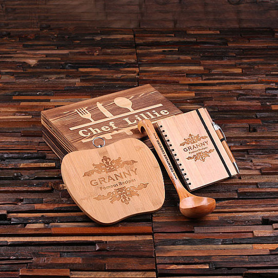 Culinary Gift Set - Cutting Board, Recipe Journal, Ladle