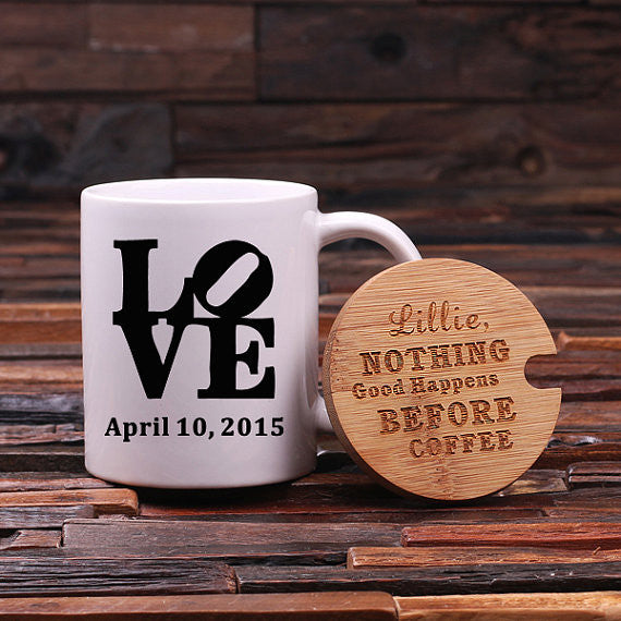 L-O-V-E w/ Lid & Tea Box