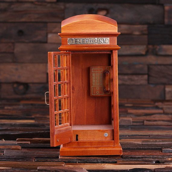 British Phone Booth Music Box