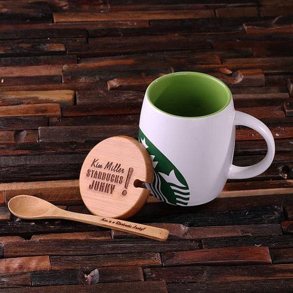 Starbucks w/Lid & Spoon
