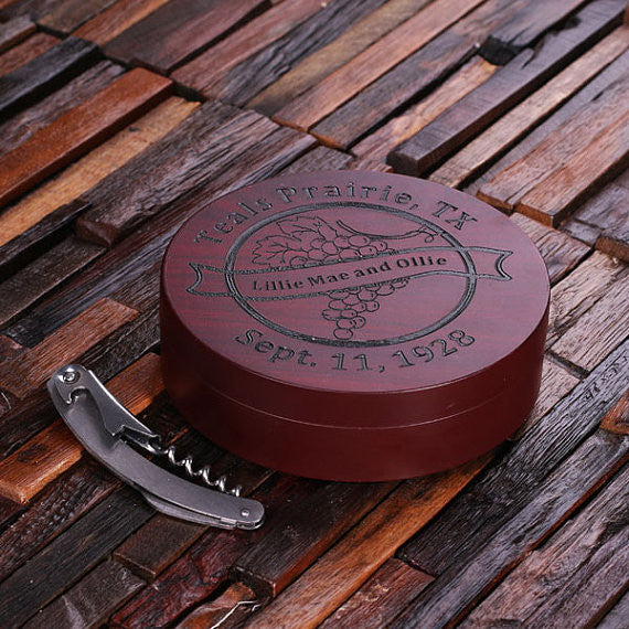 5 pc Circular Wine Accessory Toolkit