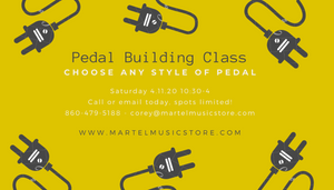 Pedal Building Class Now Booking! Saturday, April 11th