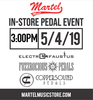 Pedal Daze. In-store pedal event with Fuzzrocious, Electro-Faustus & Coppersound!