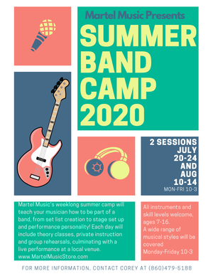 Summer Band Camp Sessions are officially booking!