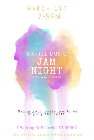 MARCH IN STORE JAM NIGHT!