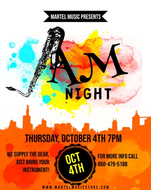 Join us for our October jam night!