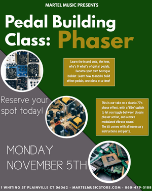 Pedal Building Class: Phaser Now Booking