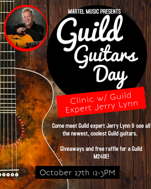 Join us for Guild Day 2018. Free Guitar Raffle!