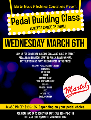 Pedal Building Class - Now Booking for March 6th!