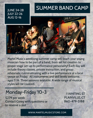 Summer Band Camp is here!  3 sessions available, book your place today!