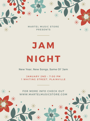 2020 Jam Night! January 2nd @ 7PM!