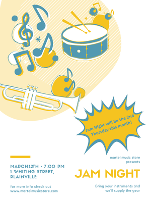 March 12th Jam Night!