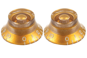 Set of 2 Gold Bell Knobs