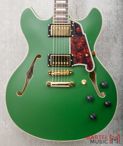 D'Angelico Deluxe DC Matte Emerald Limited Edition