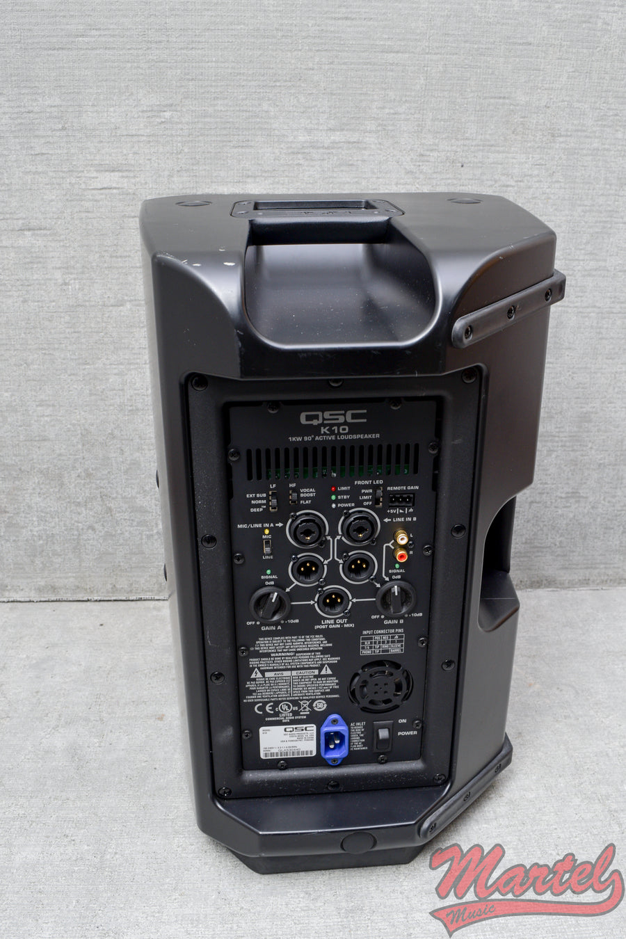 Used QSC K10 1000-watt powered PA speaker (SN:2)