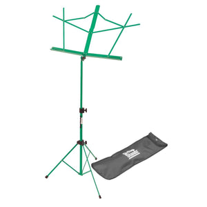 On Stage Compact Sheet Music Stand (Green, with Bag)