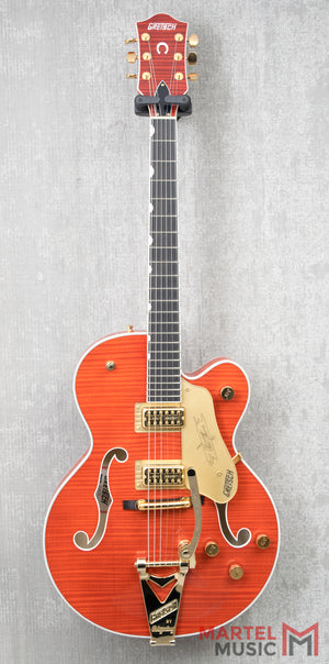 Gretsch G6120TFM Players Edition Nashville Flame Maple, Orange Stain