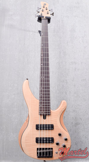 Yamaha TRBX605FM NS 5 String Bass, Flamed Maple