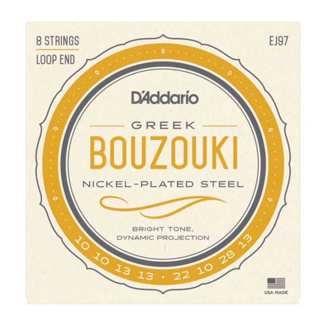 D'Addario EJ97 Greek Bouzouki Nickel Strings