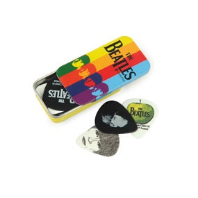 Beatles Signature Guitar Pick Tins, Stripes, Medium