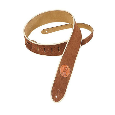 "Levy's 2"" Brown Soft Suede Guitar Strap"
