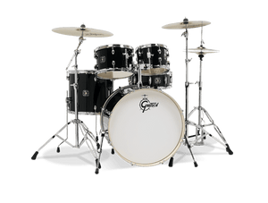 Gretsch Energy 5-Piece Kit W/ Full Hardware Package & Zildjian Cymbals- Black