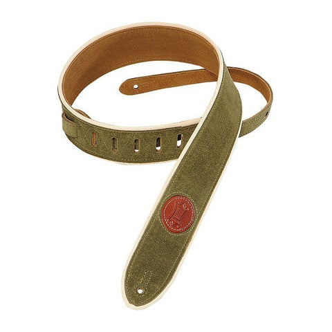 "Levy's 2"" Green Soft Suede Guitar Strap"