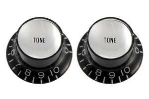 Black Tone Reflector Knobs - Black with Silver