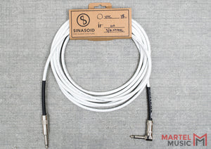 Sinasoid Van Damme Classic XKE Instrument Cable 15FT S/R- White
