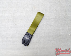 Couch Recycled Army Green Seatbelt Guitar Strap