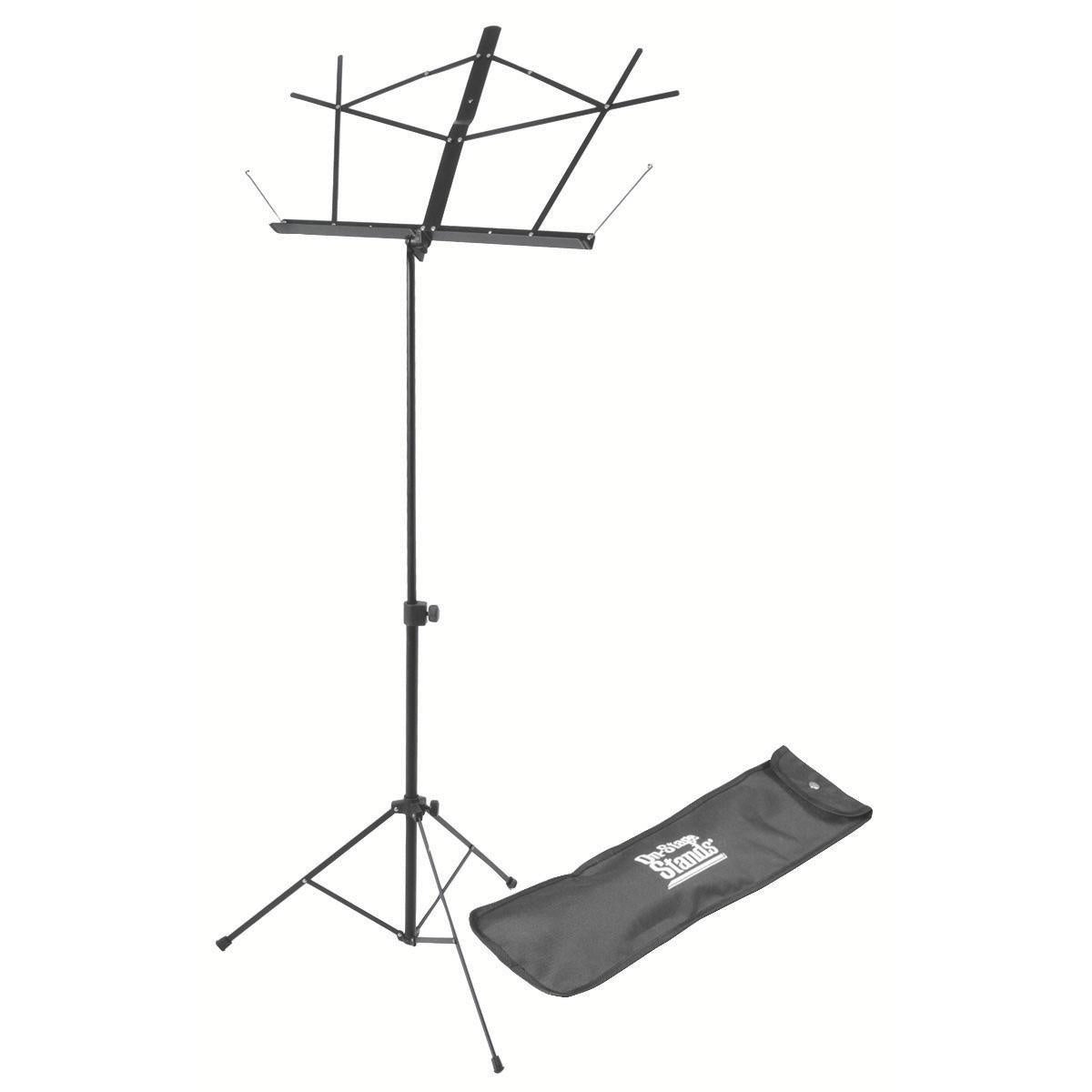 On Stage Compact Sheet Music Stand (Black, with Bag)
