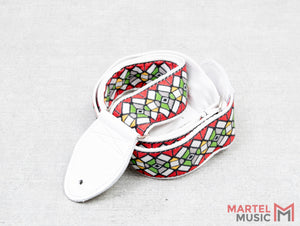 Souldier GS0178-WH02WH Stained Glass Red Guitar Strap
