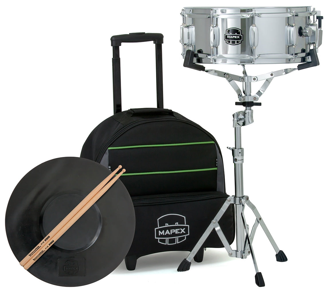 Mapex Backpack Snare Drum Kit with Integrated Roller Bag