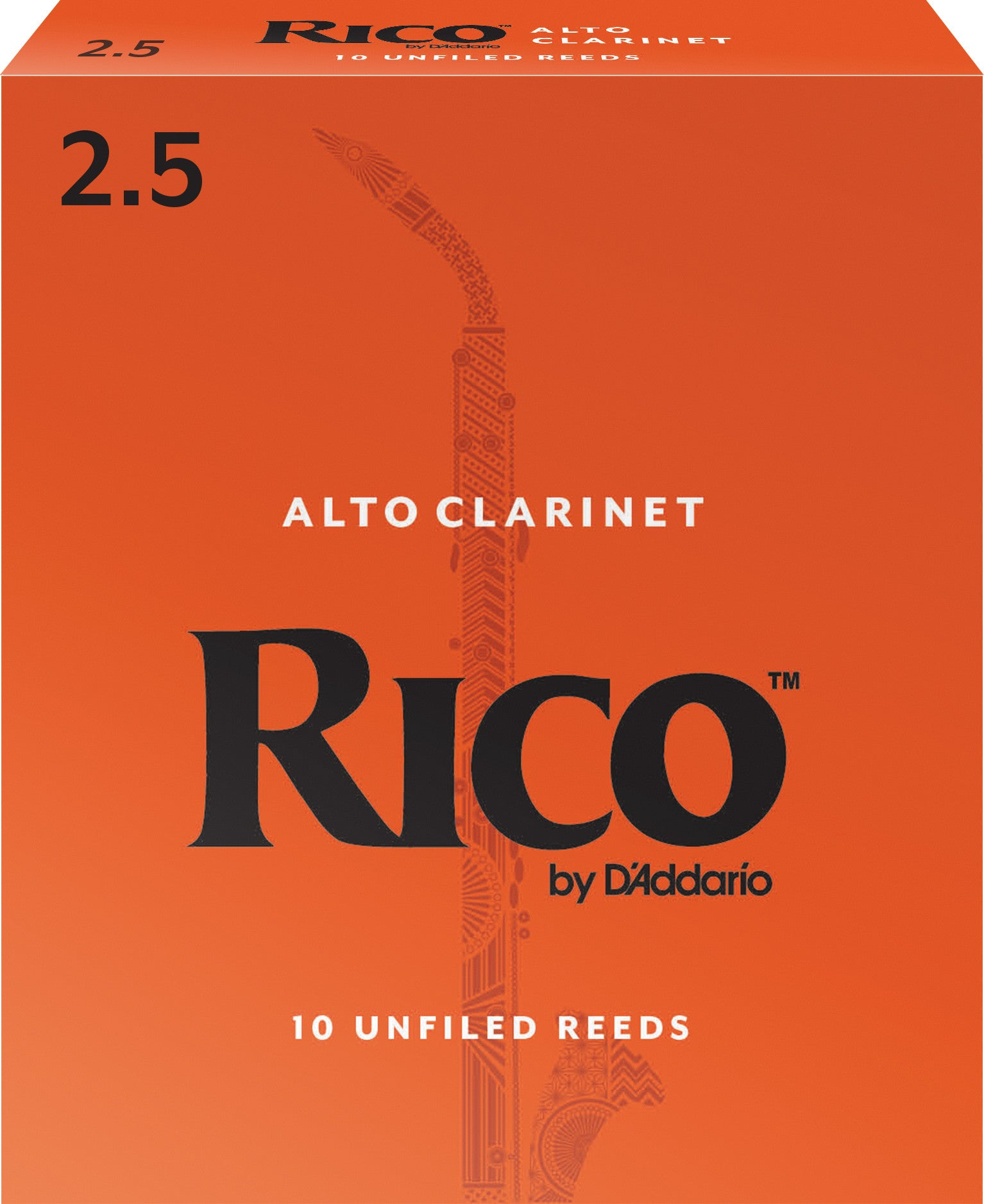 Rico by Daddario Tenor Sax #2.5 10-pack