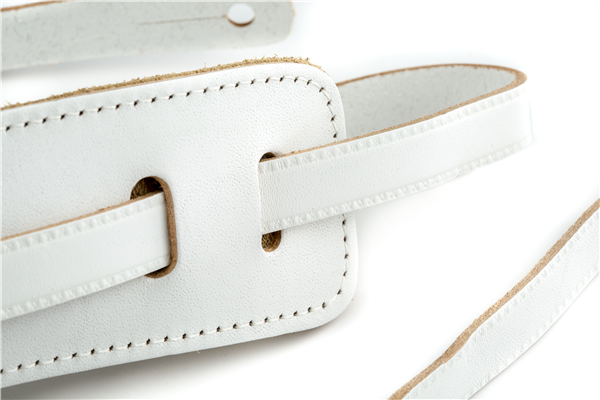 Gretsch Vintage Leather Guitar Strap, Vintage White