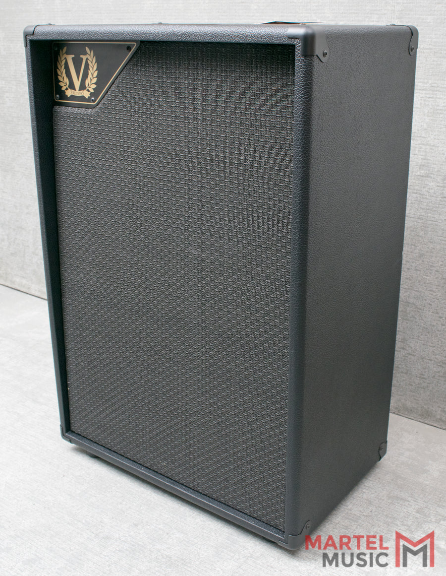 Victory V212-VH Vertical 2x12 Extension Cabinet, Black