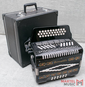 Used Bonetti Button ADG Accordion W/ Case