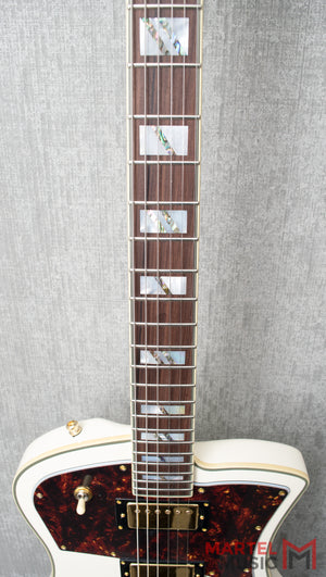 D'Angelico Deluxe Ludlow Vintage White
