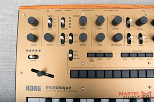 Korg Monologue Monophonic Analog Synthesizer, Gold