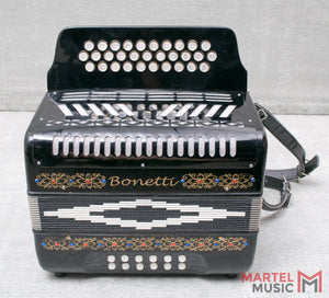 Used Bonetti Button Accordion W/ Case