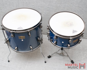 Used DDrum Dominion Blue Sparkle Drum Set W/ Cymbals & Hardware
