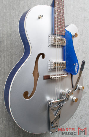 Gretsch G6118T Players Edition Anniversary 2-Tone Iridium Silver/Azure Metallic