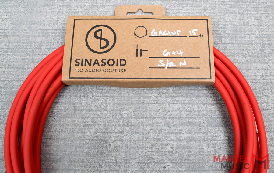 Sinasoid Gotham Audio GAC-1 Ultra Pro 15' Red Instrument Cable