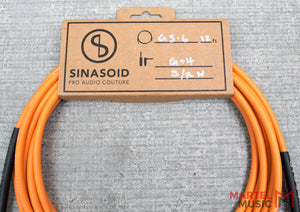 "Sinasoid Canare GS-6 Orange 12"" Instrument Cable"
