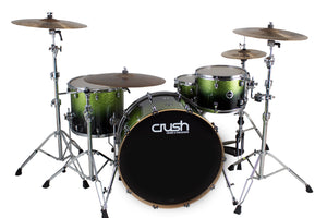 Crush Drums Sublime E3 Drum Shells Lime Sparkle Fade