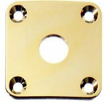 AP-0633 Square Jackplate for Les Paul Gold